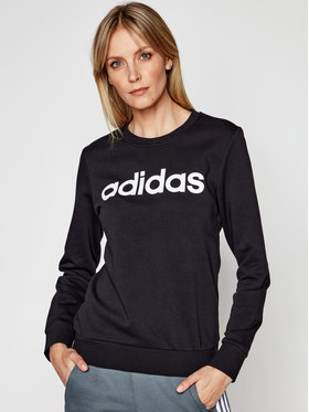 adidas adidas Pulóver Essentials Linear DP2363 Fekete Slim Fit