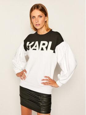 KARL LAGERFELD KARL LAGERFELD Pulóver Logo 205W1814 Fehér Relaxed Fit