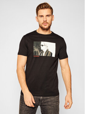 KARL LAGERFELD KARL LAGERFELD T-Shirt Crewneck 755047 502224 Czarny Regular Fit