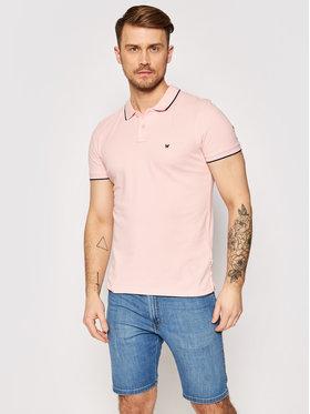 Wrangler Wrangler Тениска с яка и копчета Pique W7D5K4XTU Розов Regular Fit