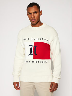 TOMMY HILFIGER TOMMY HILFIGER Pulover LEWIS HAMILTON Backloop Jersey MW0MW15300 Bej Relaxed Fit