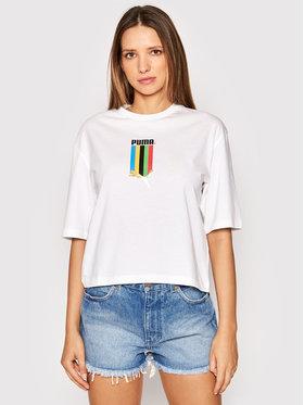 Puma Puma T-Shirt TFS Graphic 597747 Biały Regular Fit