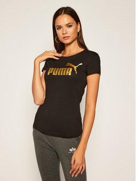 Puma Puma T-Shirt Metallic Tee 582407 Černá Regular Fit