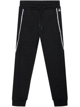 Calvin Klein Jeans Calvin Klein Jeans Pantaloni trening Logo Piping IB0IB00711 Negru Regular Fit