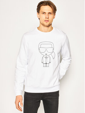 KARL LAGERFELD KARL LAGERFELD Bluză Sweat Crewneck 705027 501900 Alb Regular Fit