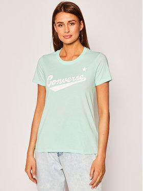Converse Converse T-shirt Center Front Logo 10018268-A12 Vert Regular Fit
