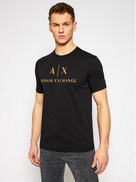 Armani Exchange Armani Exchange Marškinėliai 8NZTCJ Z8H4Z 2268 Juoda Slim Fit