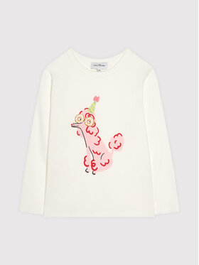Little Marc Jacobs Little Marc Jacobs Блуза W15585 S Бял Regular Fit