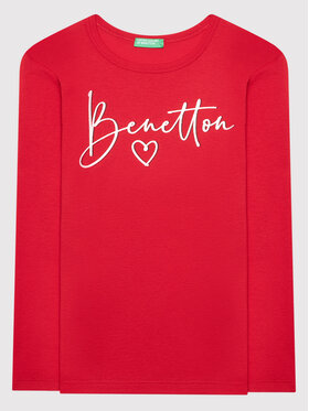 United Colors Of Benetton United Colors Of Benetton Bluse 3I9WC15BM Rot Regular Fit