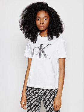 Calvin Klein Jeans Calvin Klein Jeans Тишърт J20J215605 Бял Regular Fit