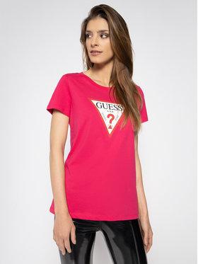 Guess Guess Tričko Triangle W0GI06 K8HM0 Ružová Regular Fit