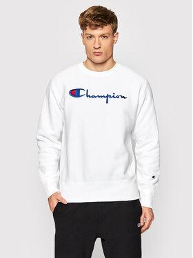 Champion Champion Суитшърт Embroidered Script Logo Reverse Weave 216539 Бял Regular Fit
