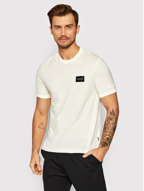 Calvin Klein Calvin Klein T-Shirt Turn-Up K10K107846 Beżowy Regular Fit