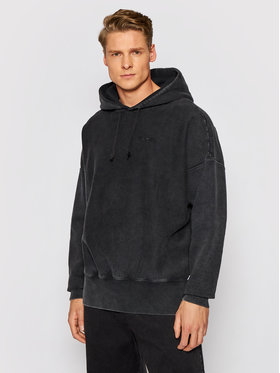 Champion Champion Pulóver 216204 Fekete Relaxed Fit