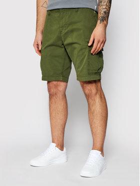 Napapijri Napapijri Pantalon scurți din material Nostran NP0A4F5U Verde Regular Fit