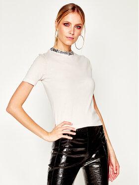 Just Cavalli Just Cavalli T-Shirt S02GC0383 Béžová Slim Fit