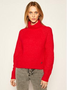 Calvin Klein Jeans Calvin Klein Jeans Bluză cu gât J20J214822 Roșu Relaxed Fit