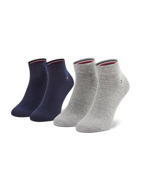 Tommy Hilfiger Tommy Hilfiger Súprava 2 párov vysokých pánskych ponožiek 342025001 Sivá