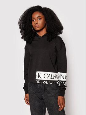 Calvin Klein Jeans Calvin Klein Jeans Majica dugih rukava J20J215262 Crna Regular Fit