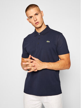 Lacoste Lacoste Тениска с яка и копчета YH4801 Тъмносин Slim Fit