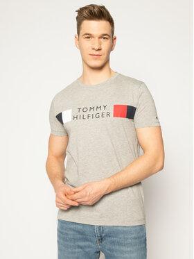 TOMMY HILFIGER TOMMY HILFIGER T-Shirt Rwb Stripe Tee MW0MW13330 Šedá Regular Fit