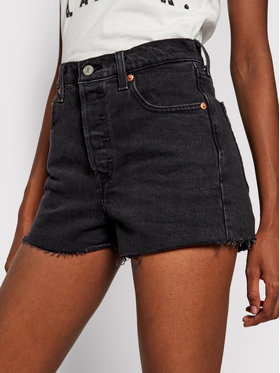 Levi's® Levi's® Pantaloncini di jeans Ribcage 77879-0052 Nero Slim Fit