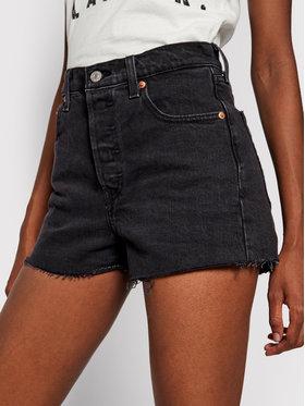 Levi's® Levi's® Pantaloni scurți de blugi Ribcage 77879-0052 Negru Slim Fit