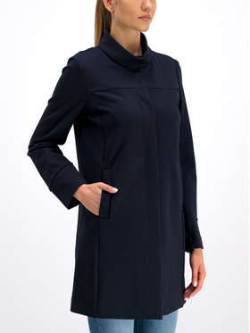Geox Geox Kabát pro přechodné období W Roose Long Coat W9221N T2543 F4386 Tmavomodrá Regular Fit