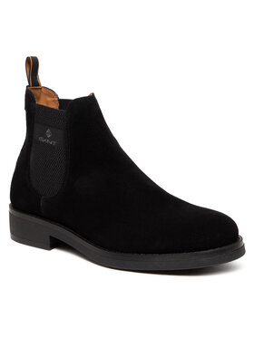 Gant Gant Členková obuv s elastickým prvkom Brookly 23653178 Čierna