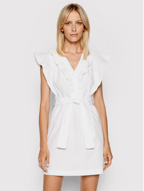 Rinascimento Rinascimento Sukienka letnia CFC0103605003 Biały Slim Fit