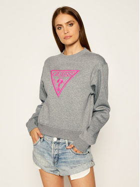 Guess Guess Sweatshirt Triangle W0YQ50 K9Z20 Grau Regular Fit