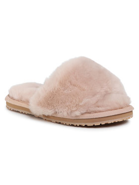 Mou Mou Klapki Sheepskin Fur Slide Slipper FW161001L Beżowy