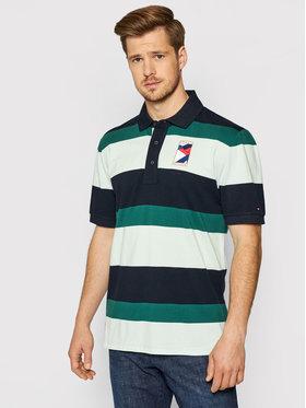 Tommy Hilfiger Tommy Hilfiger Тениска с яка и копчета 1985 MW0MW17809 Зелен Casual Fit