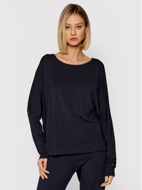 Tommy Hilfiger Tommy Hilfiger Pyjama-T-Shirt Ls Top UW0UW02928 Dunkelblau