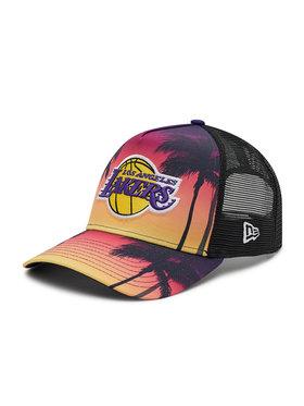 New Era New Era Czapka z daszkiem LA Lakers Summer City Black A-Frame Trucker 60137591 Czerwony