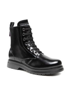 Tommy Hilfiger Tommy Hilfiger Μπότες Lace Up Bootie T4A5-32009-0776999 S Μαύρο