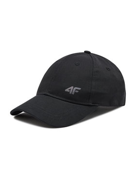 4F 4F Kepurė su snapeliu H4L21-CAM005 Juoda