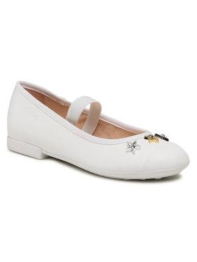 Geox Geox Κλειστά παπούτσια J Plie'b J1555B 000BC C1000 S Λευκό
