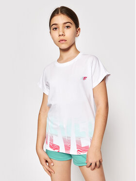 4F 4F T-Shirt HJL21-JTSD006 Biały Relaxed Fit