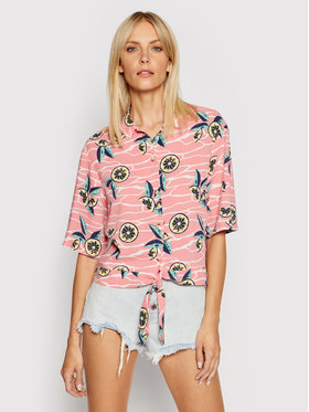 Lee Lee Košile Knotted Resort Růžová Regular Fit