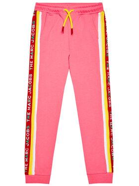 Little Marc Jacobs Little Marc Jacobs Teplákové kalhoty W14264 S Růžová Regular Fit