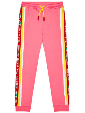 Little Marc Jacobs Little Marc Jacobs Teplákové nohavice W14264 S Ružová Regular Fit