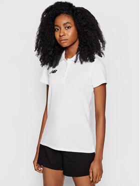 New Balance New Balance Тениска с яка и копчета WT71060 Бял Slim Fit