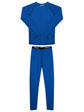 Reima Reima Set di biancheria intima termica Lani 536442 Blu scuro Slim Fit