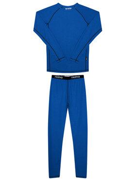 Reima Reima Σετ εσώρουχα θερμικά Lani 536442 Σκούρο μπλε Slim Fit