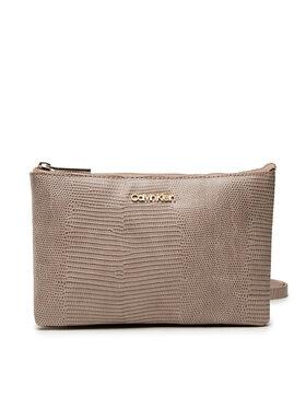 Calvin Klein Calvin Klein Handtasche Ck Must Ew Dbl Cpt Xbody Liz K60K608573 Beige