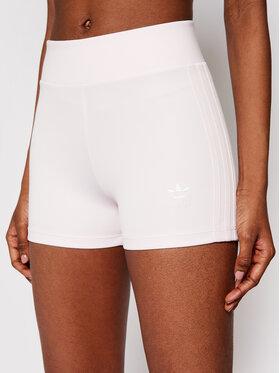 adidas adidas Szorty sportowe Booty Shorts H56463 Różowy Slim Fit