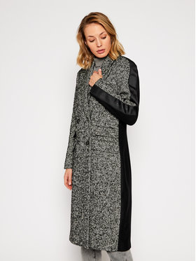 Calvin Klein Calvin Klein Vlněný kabát Boucle Belted K20K202325 Šedá Regular Fit