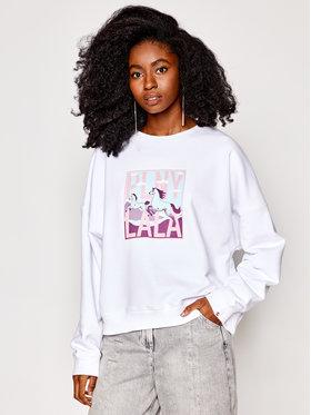 PLNY LALA PLNY LALA Sweatshirt Lucky Lala PL-BL-K1-00003 Blanc Kansas Fit