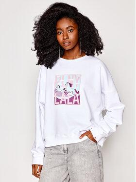 PLNY LALA PLNY LALA Sweatshirt Lucky Lala PL-BL-K1-00003 Weiß Kansas Fit